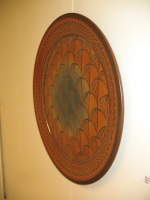 Artist: Mark Nafziger - Title: Fan Grid Platter